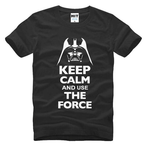 T-Shirt Star Wars Dark Vador Keep calm - Unisexe - Noir / S