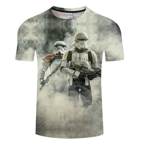 T-Shirt Star Wars Troopers Blanc - Homme - S