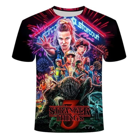 T-Shirt Stranger Things 3 - Unisexe