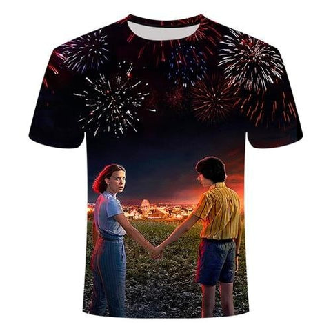 T-Shirt Stranger Things Elfe et Mike - Unisexe