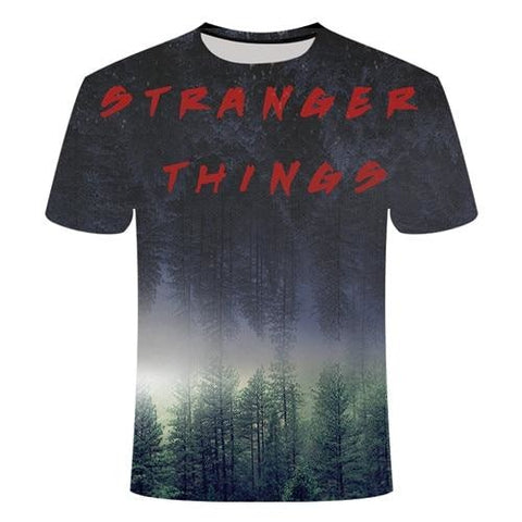 T-Shirt Stranger Things Monde inversé - Unisexe