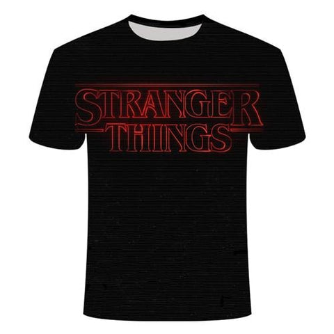 T-Shirt Stranger Things Noir - Unisexe