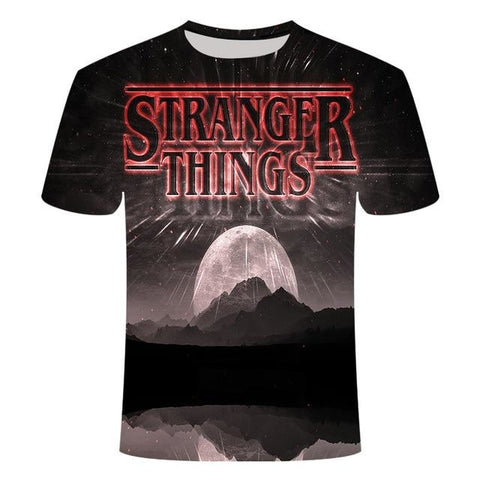 T-Shirt Stranger Things Pleine lune - Unisexe