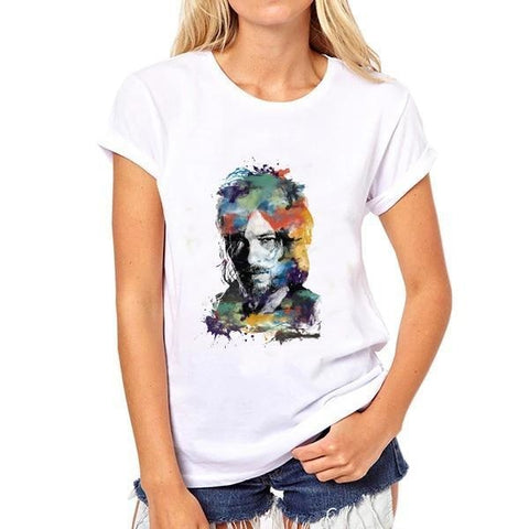 T-Shirt The Walking Dead Daryl en peinture - Femme - L