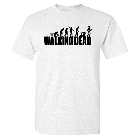T-Shirt The Walking Dead Logo Evolution Noir et Blanc - Homme - white1 / XXXL / China