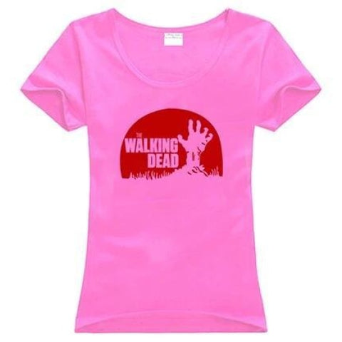 T-Shirt The Walking Dead main de zombie - Femme - Rose / S