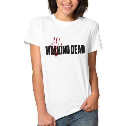 T-Shirt The Walking Dead Main en sang - Femme - XXXL