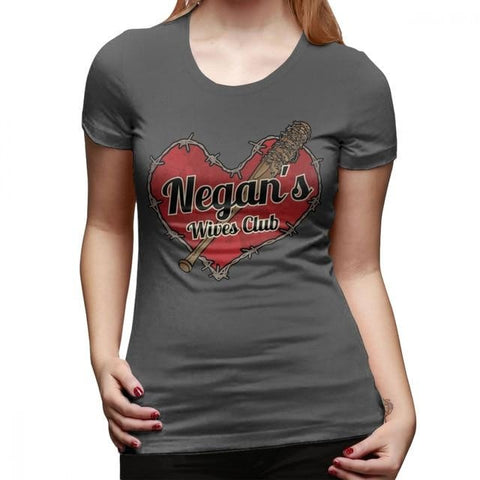 T-Shirt The Walking Dead Negans Wives Club - Femme - Gris foncé / S