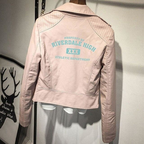 Veste Riverdale High (2 couleurs) - Rose / XL