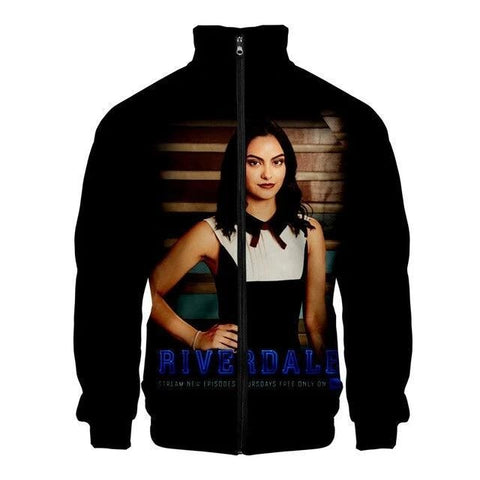 Veste Riverdale noire Veronica Lodge - M