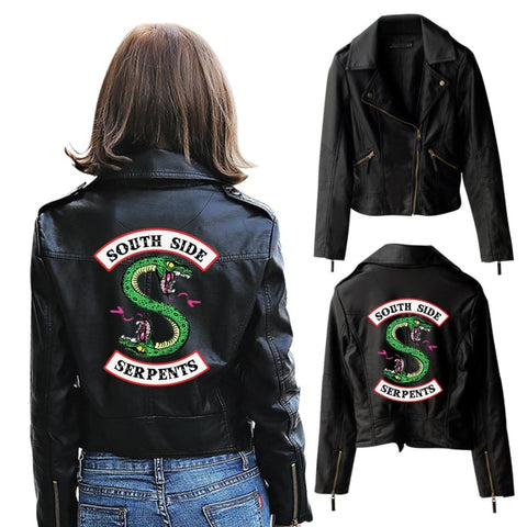Veste South Side Serpents en cuir - Femme