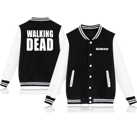 Veste Teddy The Walking Dead Noir et Blanche - 4XL