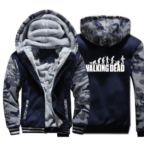Veste The Walking Dead Bleu Marine Evolution
