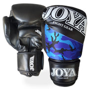Joya 10oz Kick Boxing Gloves Synthetic Leather Blue Camo Image 1