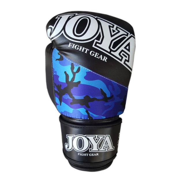 Joya 10oz Kick Boxing Gloves Synthetic Leather Blue Camo Image 3