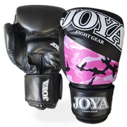 Joya 8oz Kick Boxing Gloves Synthetic Leather Pink Camo Image 1