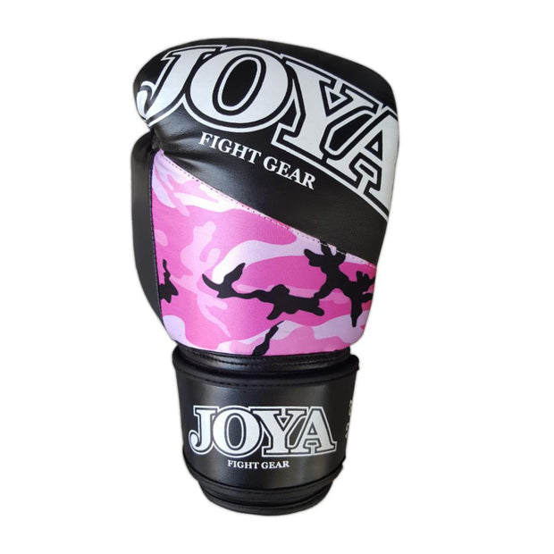 Joya 8oz Kick Boxing Gloves Synthetic Leather Pink Camo Image 3