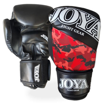 Joya 10oz Kick Boxing Gloves Synthetic Leather Red Camo Image 1