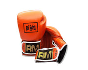 RingMaster Sports Boxing Gloves Genuine Leather Orange  image 2