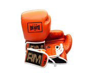 RingMaster sports Boxing Gloves Genuine Leather Orange  image 3