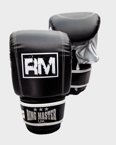 RingMaster Sports Synthetic Leather Bag Mitts Black