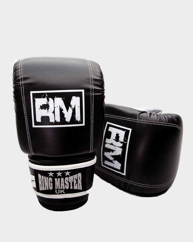 RingMaster Sports Bag Mitts Synthetic Leather Black Image 3