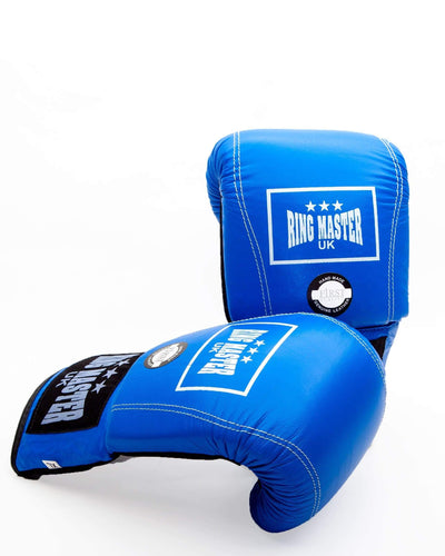 RingMaster Sports Bag Mitts Genuine Leather Blue Image 5