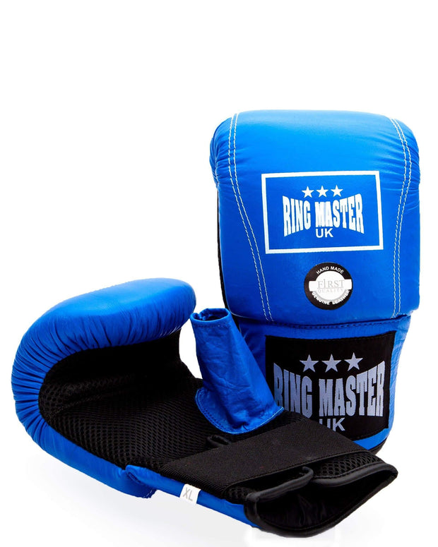 RingMaster Sports Bag Mitts Genuine Leather Blue Image 1