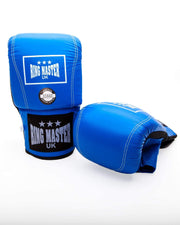 RingMaster Sports Bag Mitts Genuine Leather Blue Image 4