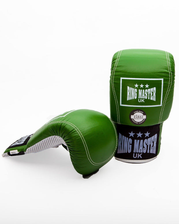 RingMaster Sports Bag Mitts Genuine Leather Green Image 1