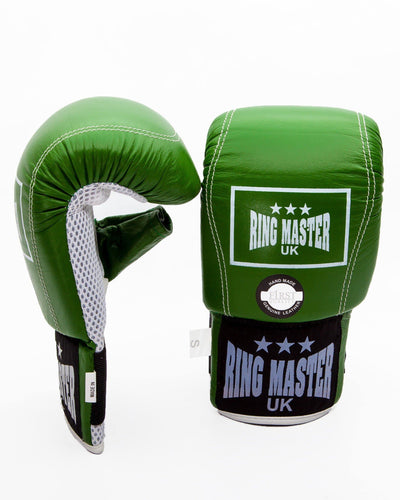 RingMaster Sports Bag Mitts Genuine Leather Green Image 3