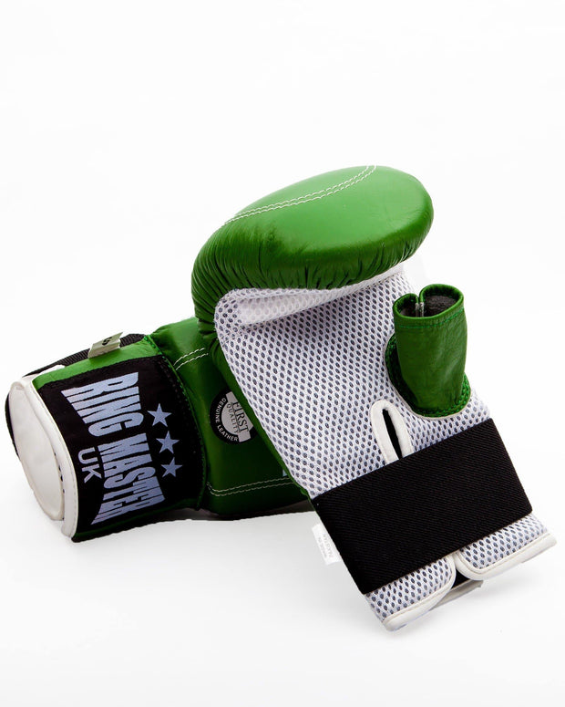 RingMaster Sports Bag Mitts Genuine Leather Green Image 4
