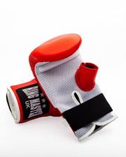 RingMaster Sports Bag Mitts Genuine Leather Red Image 1