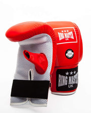 RingMaster Sports Bag Mitts Genuine Leather Red Image 3