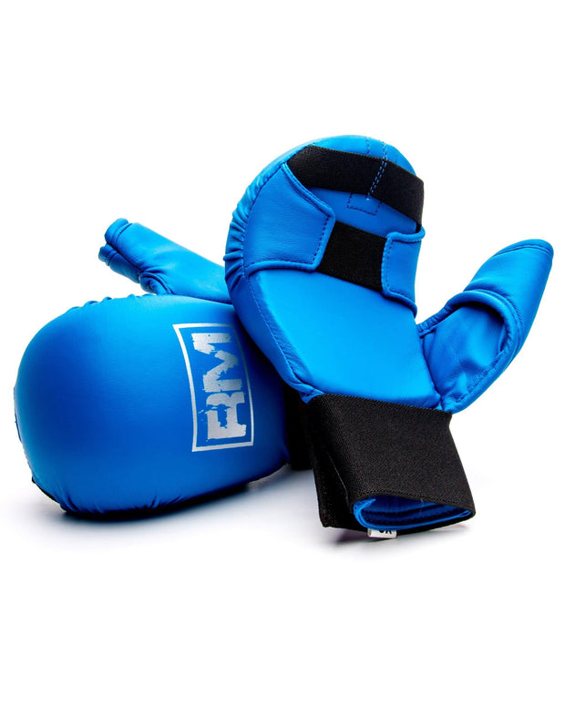 RingMaster Sports Synthetic Leather Karate Gloves Blue image 5