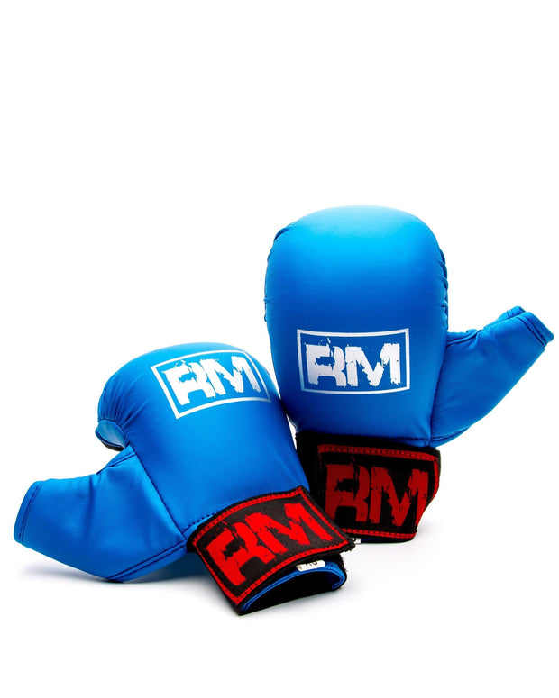 RingMaster Sports Synthetic Leather Karate Gloves Blue image 6