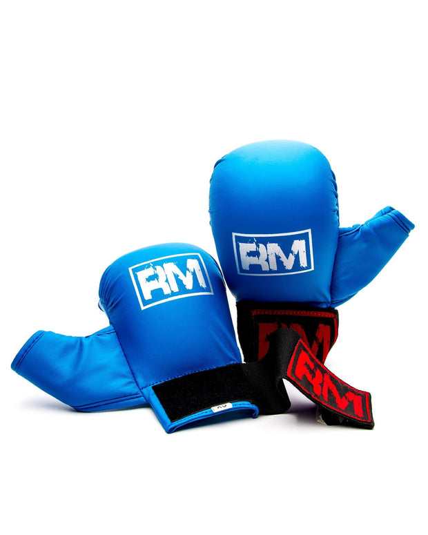 RingMaster Sports Synthetic Leather Karate Gloves Blue image 4