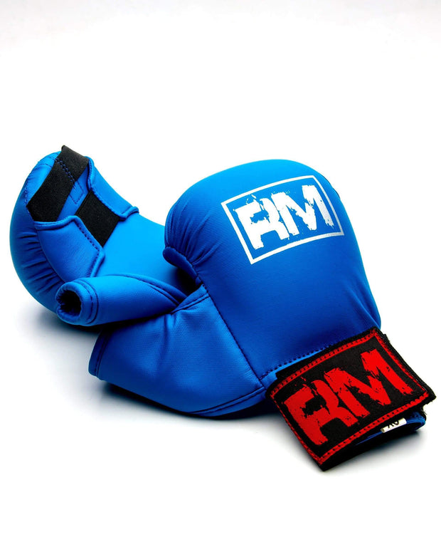RingMaster Sports Synthetic Leather Karate Gloves Blue image 3