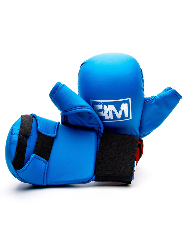 RingMaster Sports Synthetic Leather Karate Gloves Blue image 2