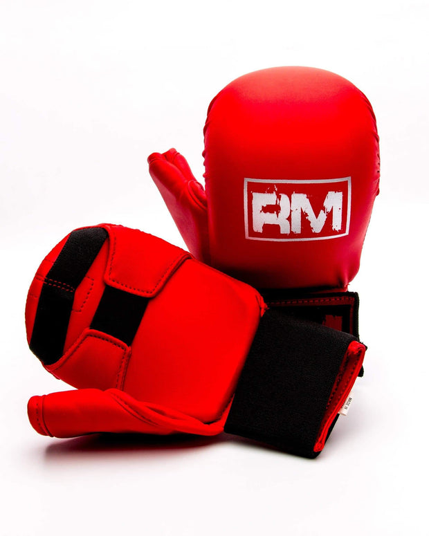 RingMaster Sports Synthetic Leather Karate Gloves Red image 2