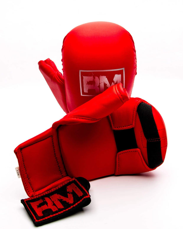 RingMaster Sports Synthetic Leather Karate Gloves Red image 5