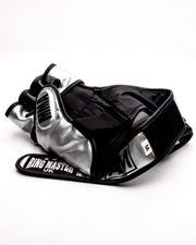 RingMaster Sports MMA Gloves Synthetic Leather Black and Silver Image 5