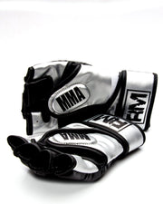 RingMaster Sports MMA Gloves Synthetic Leather Black and Silver Image 4