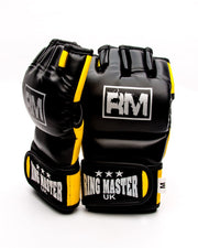 RingMaster Sports MMA Gloves Synthetic Leather Black and Yellow Image 5