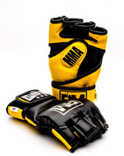 RingMaster Sports MMA Gloves Synthetic Leather Black and Yellow Image 2