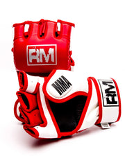 RingMaster Sports MMA Gloves Synthetic Leather Red and White image4