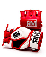 RingMaster Sports MMA Gloves Synthetic Leather Red and White image 3
