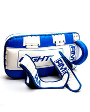 RingMaster Sports One Size Arm Pads Genuine Leather Blue and White (Single Item) image 4