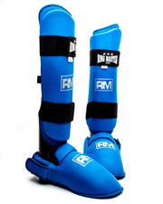 RingMaster Sports Synthetic Leather Karate Shin Instep Guards Blue image 5