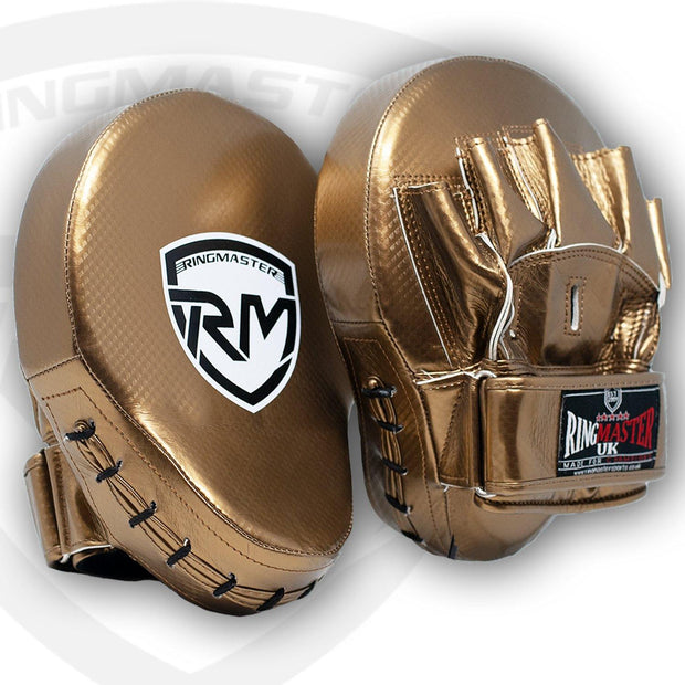 RingMaster Sports Ultralight Focus Pads Carbon Leather One Size Gold